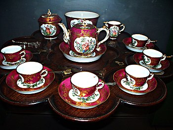 WLA vanda English Tea Set 18th century