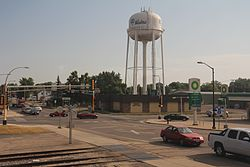 Wadena MN Downtown US71 US10 intersection.jpg