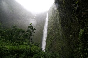 Waipio Valley - Image: Waipio waterfall