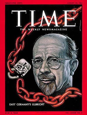 Walter Ulbricht - Ulbricht on the cover of Time (25 August 1961)