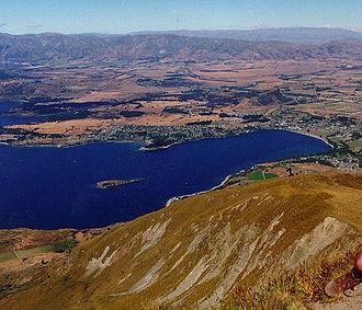 Lake Wanaka - View of Lake Wanaka from Mt. Roy.