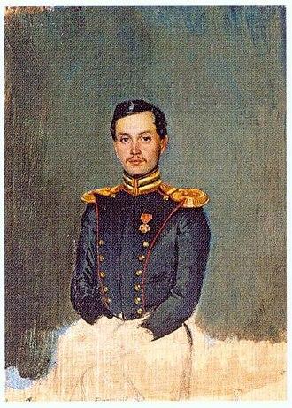 Pyotr Vannovsky - Portrait of Captain Vannovsky, 1849