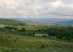 View of Wanship, Utah, from Wanship Dam