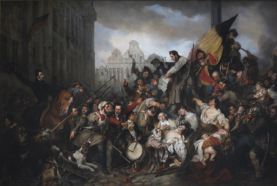 Wappers - Episodes from September Days 1830 on the Place de l'Hôtel de Ville in Brussels