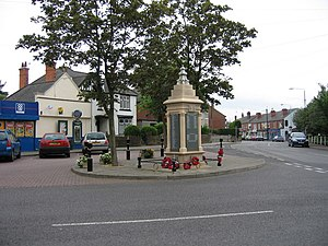 Jacksdale - Image: War Memorial, Main Road, Jacksdale, Nottinghamshire geograph.org.uk 192691