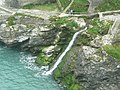 Waterfall, Tintagel Haven - geograph.org.uk - 1385534.jpg