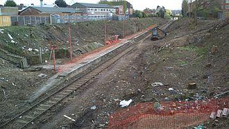 Watford West railway station - Image: Watford West Station April 2014