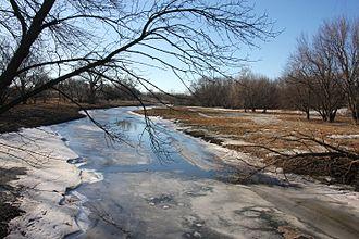 Watonwan River - The river in winter near Madelia, Minnesota