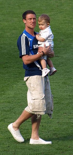 Wayne Bridge - Bridge with his son Jaydon.