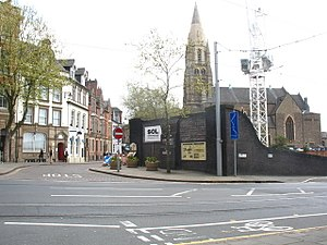 Weekday Cross - Weekday Cross showing the Great Central Railway tunnel portal before its demolition to make room for the Nottingham Contemporary gallery