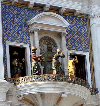 St Mark's Clocktower - The Three Magi led by an angel that emerge only twice a year