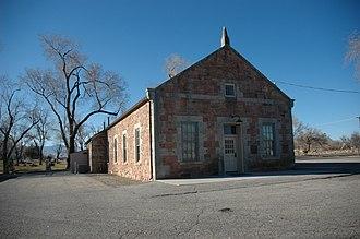 West Jordan, Utah - The historic West Jordan Ward Meeting House of the LDS Church. It is now the Museum of the Daughters of Utah Pioneers.