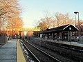 West Natick station facing east, January 2015.JPG