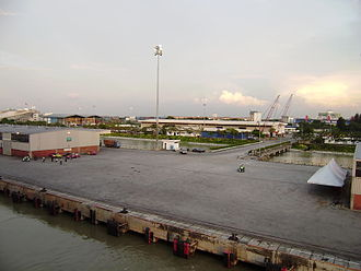 West Port, Malaysia - View of West Port port area from a ship alongside