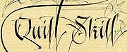 Calligraphie occidentale moderne