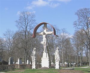 Westfriedhof (Munich) - Crucifixion group by Thomas Buscher