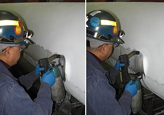 Magnetic particle inspection non-destructive method used to detect defects in ferrous materials