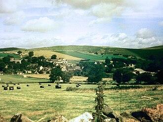 Wetton, Staffordshire - Wetton village viewed from Wetton Low with Wetton Hill in background