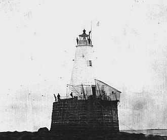 Whaleback Light - Image: Whaleback Lighthouse Maine c 1847