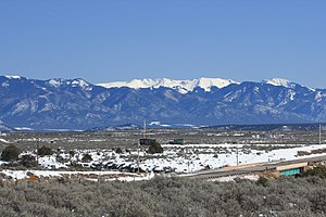 Tres Piedras, New Mexico - Wheeler Peak of the Sangre de Cristo Mountains from Tres Piedras