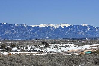 Tres Piedras, New Mexico - Wheeler Peak of the Sangre de Cristo Mountains from Tres Piedras