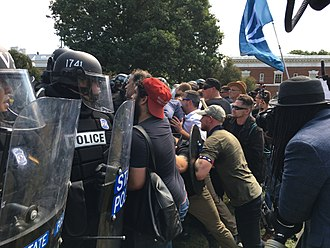 Unite the Right rally - Image: White supremacists clash with police (36421659232)