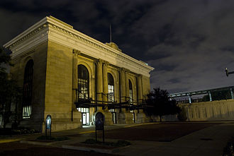 Downtown Wichita - Union Station, Wichita's former passenger rail station (2009)