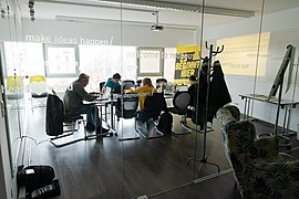 Wikimedia Amnesty International Österreich Wikipedia-Workshop 2018-10 1.jpg
