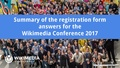 Wikimedia Conference 2017 Summary of the registration form answers.pdf