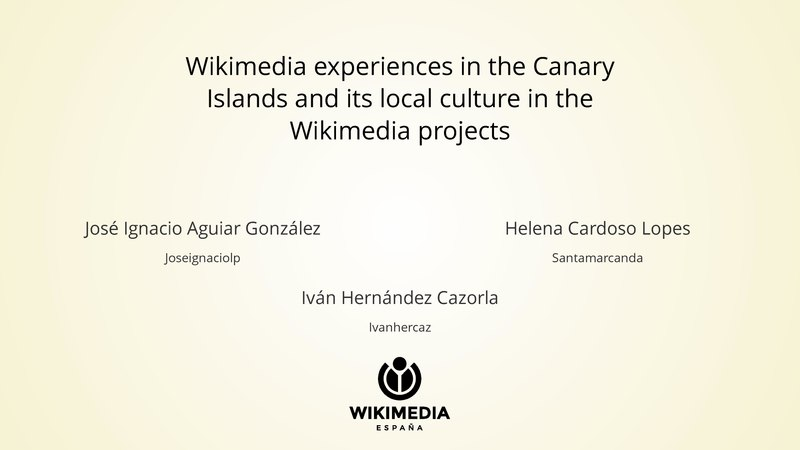 Archivo:Wikimedia experiences in the Canary Islands and its local culture in the Wikimedia projects.pdf