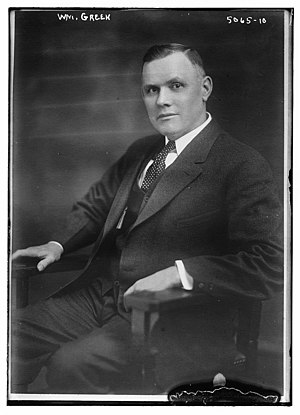 William Green (U.S. labor leader) - Image: William Green in 1919