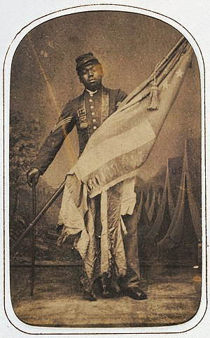 54th Massachusetts Infantry Regiment - William Harvey Carney circa 1864