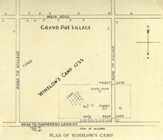 Bay of Fundy Campaign - Winslow's Camp, Grand Pré, Nova Scotia