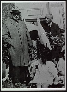 Curchill as Secretary of State for the Colonies during his visit to Mandatory Palestine, Tel Aviv, 1921.