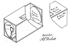 Alexander S. Wolcott - Wolcott reflector mirror camera diagram of patent No. 1,562