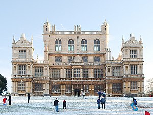 Wollaton Hall - Wollaton Hall in the snow, November 2010