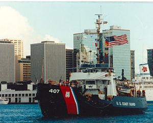 USCGC Woodrush (WLB-407) - Image: Woodrush 1992