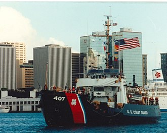 USCGC Woodrush (WLB-407) - Image: Woodrush 1992