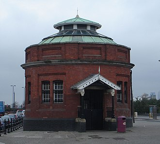 Woolwich foot tunnel - North entrance