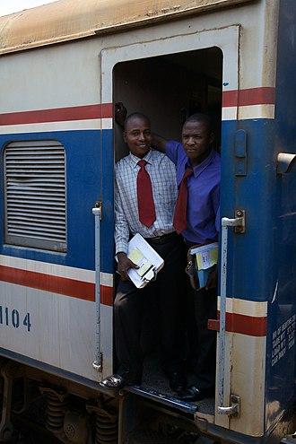 TAZARA Railway - Zambian TAZARA staff in Kapiri Mposhi in 2012.