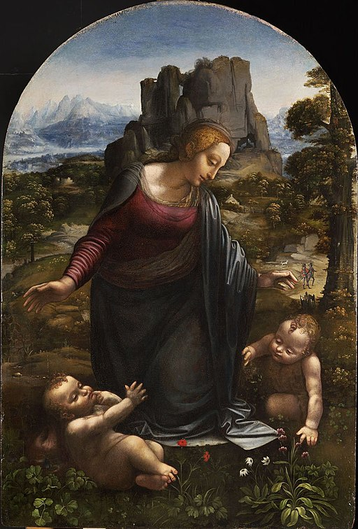 """Virgin and Child with Young St John the Baptist"" by Workshop of Leonardo da Vinci"