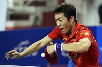 Xu Xin (table tennis) - Xu Xin in the men's final of the Qatar Open 2012