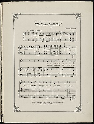 """""""Yankee Doodle Boy"""" (sheet music) pa..."""