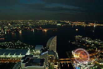 Cosmo Clock 21 - Image: Yokohama from the Landmark Tower, 515PM