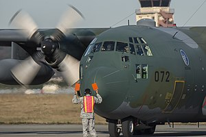 401st Tactical Airlift Squadron (JASDF) - C-130H participating in Operation Christmas Drop 2016