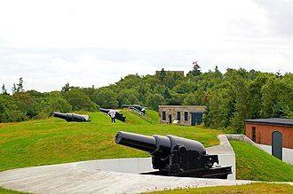 Citadel Hill (Fort George) - The York Redoubt is a shore battery situated south of Citadel Hill, and a component of the larger Halifax Defence Complex. The Citadel served as the centre of the defence complex.
