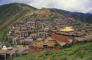 Yushu Tibetan Autonomous Prefecture - Dondrub Ling monastery in the town of Gyêgu, Yulshul County