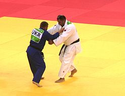 Zakiyev (AZE) vs Pominov (UKR) at the gold final of the 2015 European Games 3.jpg