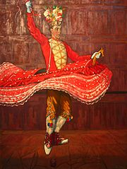 Man-horse, one of the main characters of the souletine mascarade, performing the glass dance