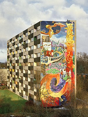 DAIM - Sign of the times by DAIM, Darco, Loomit and others in Hamburg-Lohbrügge (Germany), 1995